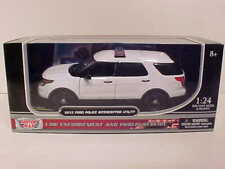 PREORDER 2015 Ford Explorer Police Diecast 1:24 Motormax 8 inch White