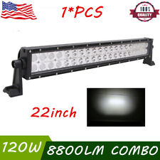 22inch 120W Slim Led Work Light Bar Spot Flood Driving Truck Offroad 4WD 12V 24V