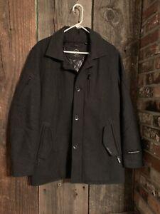 Tumi tech Men's charcoal Gray waterproof wool jacket Size Medium - Read cond