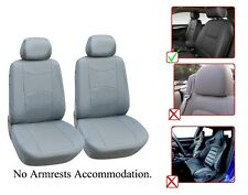 Vinyl Leather Two Front Car Seat Covers For Toyota - L1510 Gray
