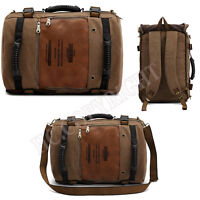 Men's Travel Sport Rucksack Satchel School Hiking Bag Canvas Backpack