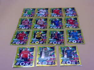 TOPPS MATCH ATTAX LOTE 15 TRADING CARDS STAR PLAYER 2020 2021