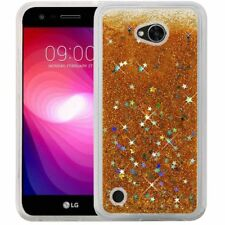 Gold Liquid Motion Glitter Case Cover For LG X Charge/X Power 2/Fiesta LTE Phone