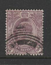 STRAITS SETTLEMENTS 1904 3c Dull Purple SG 101 VFU