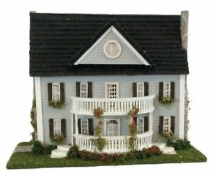 Dollhouse Miniature1:144 Scale Classic Colonial Dollhouse Kit Complete