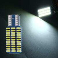 12V T10 192 194 3014 W5W 33 SMD LED Canbus Car Door Light Width Lamp Bulb White