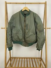 VTG MA-1 WWII Blue Anchor Bomber Flight USAF Distressed Jacket Size XL