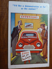 Lot12f 'I'd like a Demonstration as far as the Station!' Car RAW Postcard c1955