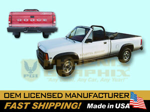 1988 1989 Dodge Dakota Sport Truck Decals Graphics Stripes Kit