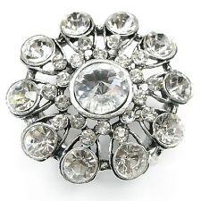 Neu TUCHHALTER mit STRASSSTEINE in kristallklar Schalring SCHALHALTER TUCHRING