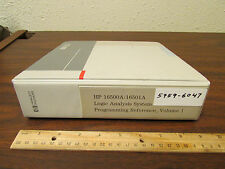 HP 16500A/16501A Logic Analysis System Programming Reference Vol. 1 5959-6047