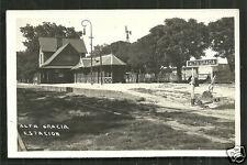 Alta Gracia rppc Railway Station Estacion Cordoba Argentina 40s