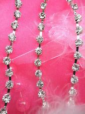 JB79 Crystal Clear Glass Rhinestone Chain Trim 30SS Sewing Crafts Jewelry