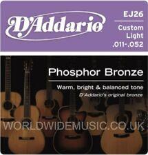 D'ADDARIO EJ26 CUSTOM LIGHT ACOUSTIC GUITAR STRINGS .011 - .052