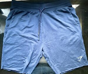 GYMSHARK MENS CRITICAL SHORTS - GREY MARL SIZE XL