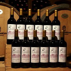 2015er Château Berbillot, 12 Flaschen, Côtes de Bourg,Gold Gilbert & Gaillard !