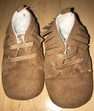 Baby girls brown booties for 0-6 months from F&F - good condition