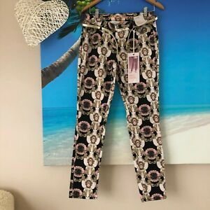 """""""Denim Co"""" brand new with all tags/lion print/ankle grazer jeans/UK 12/AUS 38"""