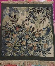 French Handwoven Aubusson Tapestry 19th Century Rug 56 X 69 Cm