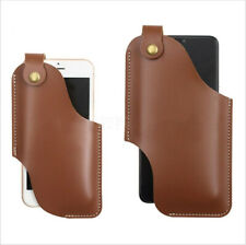 Unisex Mens Cell Phone Belt Pack Bag Loop Waist Holster Pouch Case PU Leather