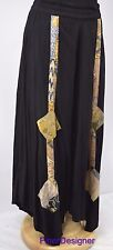 Nativewear Designs tribal skirt shabby peasant chic maxi shabby long patch SZ XL