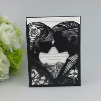 50sets-Personalized Classic Style Wedding Invitation Card +Inner sheet +Envelope