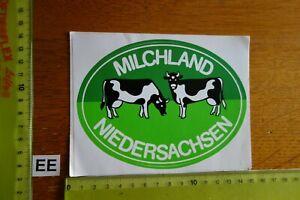 Alter Aufkleber Landwirtschaft MILCHLAND NIEDERSACHSEN Kühe (B)