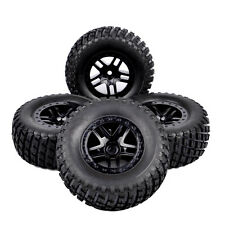 4X RC 1:10 Short Course Truck Tires&Wheel Rim 12mm Hex For TRAXXAS SlASH Car