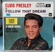 """EP 45 tours Elvis Presley - In """"Follow That Dream"""" - 86.306 M - TBE - VG+ / EX"""