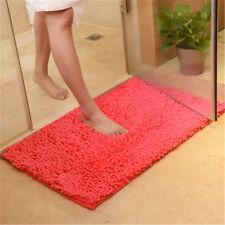 60*40cm Shaggy Chenille Bathroom Carpet Mat Bedroom Floor Mat Rug Anti-slip Rug*