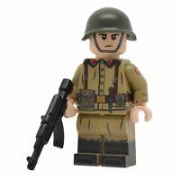 Lego Custom Cold War SOVIET SOLDIER- Full Body Printing NEW Brickarms AK