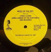 Madonna, Cyndi Lauper, Annie Lennox Music of the 80's 2LP RARE PROMO