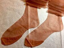 24 Pairs Shaleen 15D Flat Knit Silky Sheer 4 1/2�Toe Nylon Stockings 9 1/2 X 33