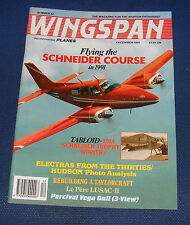 WINGSPAN MAGAZINE DECEMBER 1991 - FLYING THE SCHNEIDER COURSE IN 1991