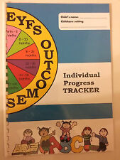 EYFS A4 Individual Progress Tracker book by Age 0-60+ for nursery childminder