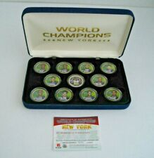 Ny World Champions 2007 24K Gold Plated Limited Edition #379 Quarter Set (11)