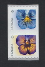 PANSY = Coil Se-tenant Pair = Type II = MNH Canada 2015