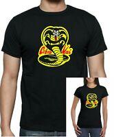 Karate Kid Kobra Kai  Dojo black T-shirt. Unisex, ladies fitted and + kids sizes