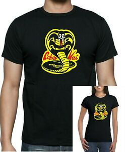 Karate Kid Kobra Kai  Dojo black T-shirt. Unisex, ladies fitted and + kids sizes