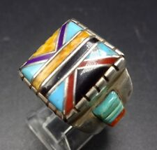 New Old Stock DAVID FREELAND Sterling Silver TURQUOISE Channel Inlay RING, sz 6