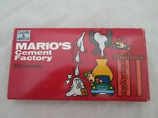RARE MINT Nintendo Mario's Cement Factory Game & Watch - COMPLETE and Boxed