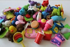 10 Various 3D Erasers Value Pack Job Lot Stocking Fillers Party Bag Fillers New