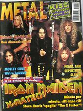 METAL SHOCK 202 1995 Iron Maiden Black Sabbath Y&T B-Thong Fair Warning Rainbow