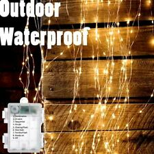 1-20x 5M LED Warm White Remote Christmas Fairy Lights Sealed Waterproof Outdoor