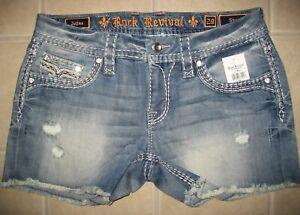 Rock Revival Jelina Shorts E1083H400 Women's Jean Shorts Size 29