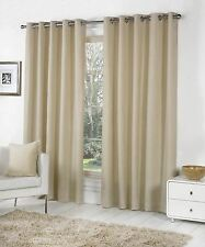 Sorbonne Ready Made Eyelet Curtains Natural 90x90