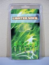 New- 5pk- LIGHTED NOCK Green Auto 7 Color LED Arrow Light Up 6.2mm Shaft Archery