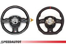Scambio Tuning S-LINE spianate Volante Multifunzione Volante in Pelle Audi a6 ROSSO