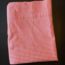 Martha Stewart Red Gingham Plaid Flat Sheet Full