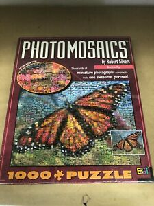 "Photomosaics By Robert Silvers ""Butterfly"" 1000+ Pieces Jigsaw Puzzle New."